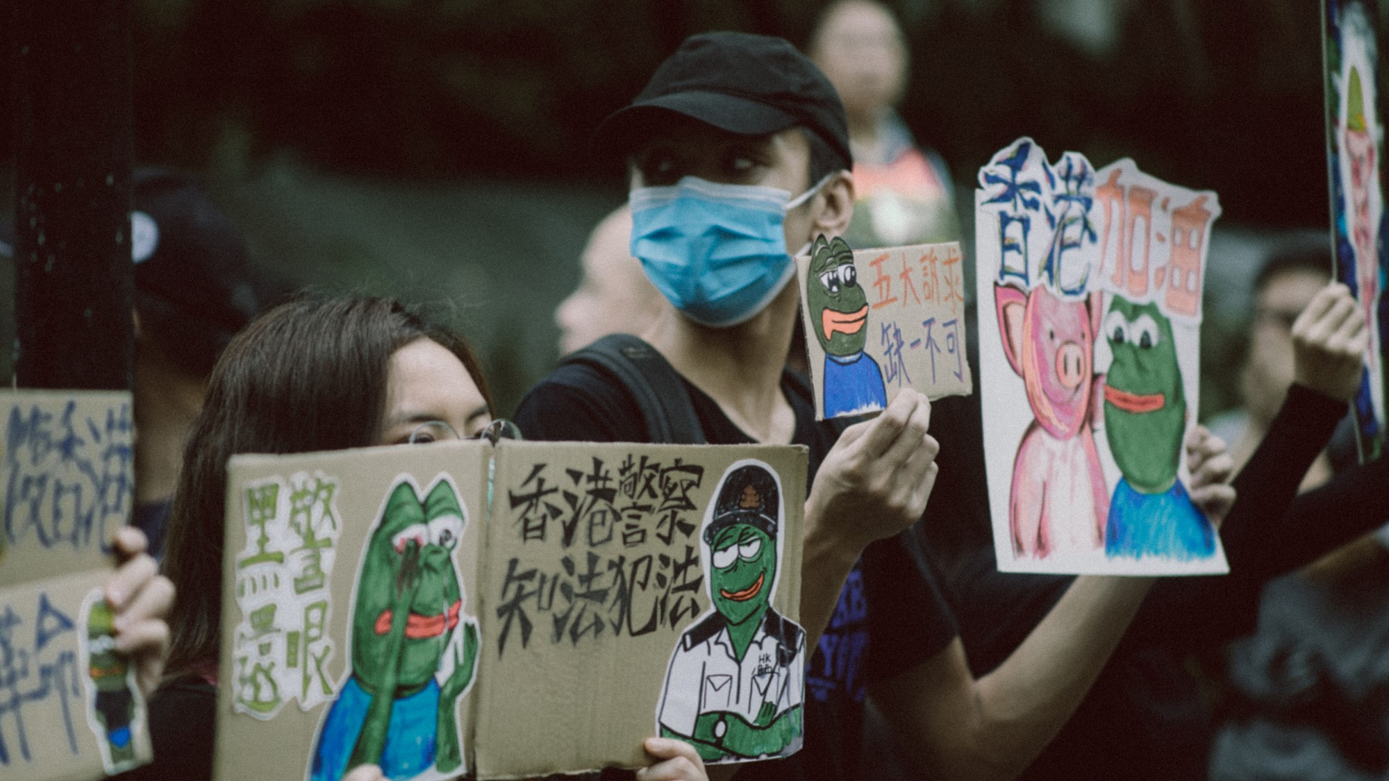 Demonstranter i Hongkong